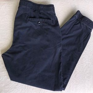 Gap Khaki Navy Blue Lived In Jogger